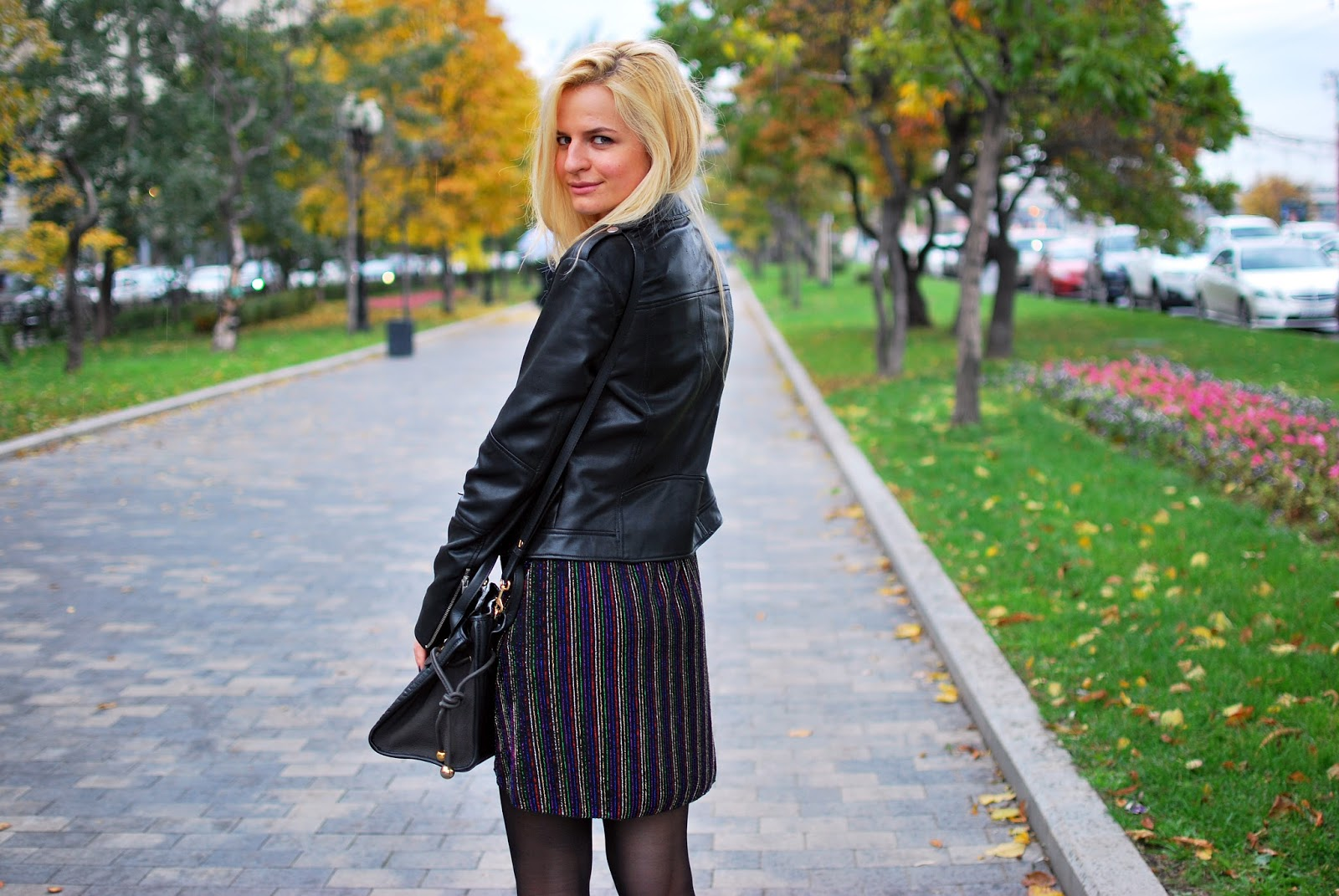 biker jacket outfit, autumn outfit adea, fashion blogger moscow
