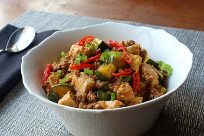 Spicy Pork & Vegetable Tofu – Probably Not Mapo Tofu