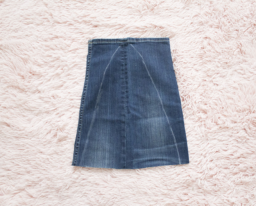 new denim front piece for skirt