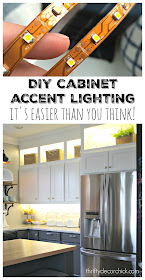 DIY accent lighting in kitchen