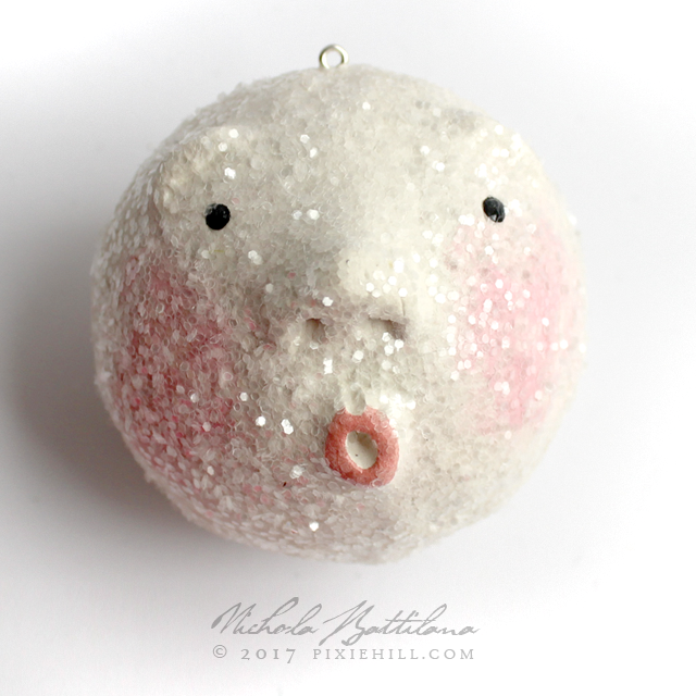 Cheeky Snowball Ornaments with Tutorial - Nichola Battilana