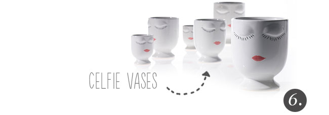 Vase Face! The Celfie Vase from Accent Decor, wholesale home decor