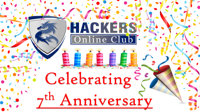 HackersOnlineClub (HOC) is Celebrating 7th Anniversary Today