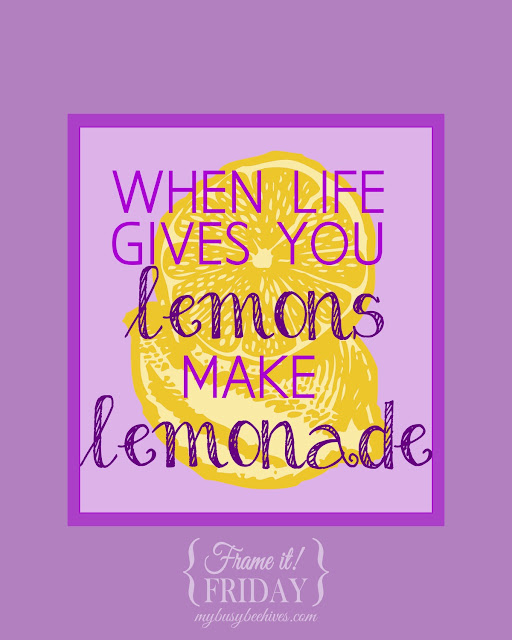 Make lemonade free printable