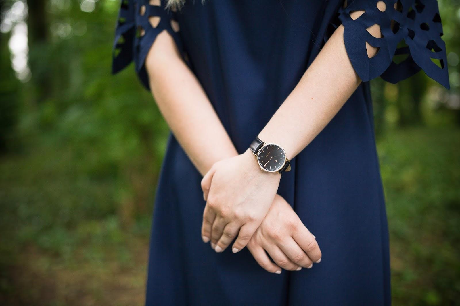 1 Off The Shoulder Flared Dress zaful paul rich watch hat sukienka zaful opinie recenzja buty łuków ażurowa hiszpanka granatowa baletki zegarek ootd lookbook fashionblogger blog modowy lifestyle