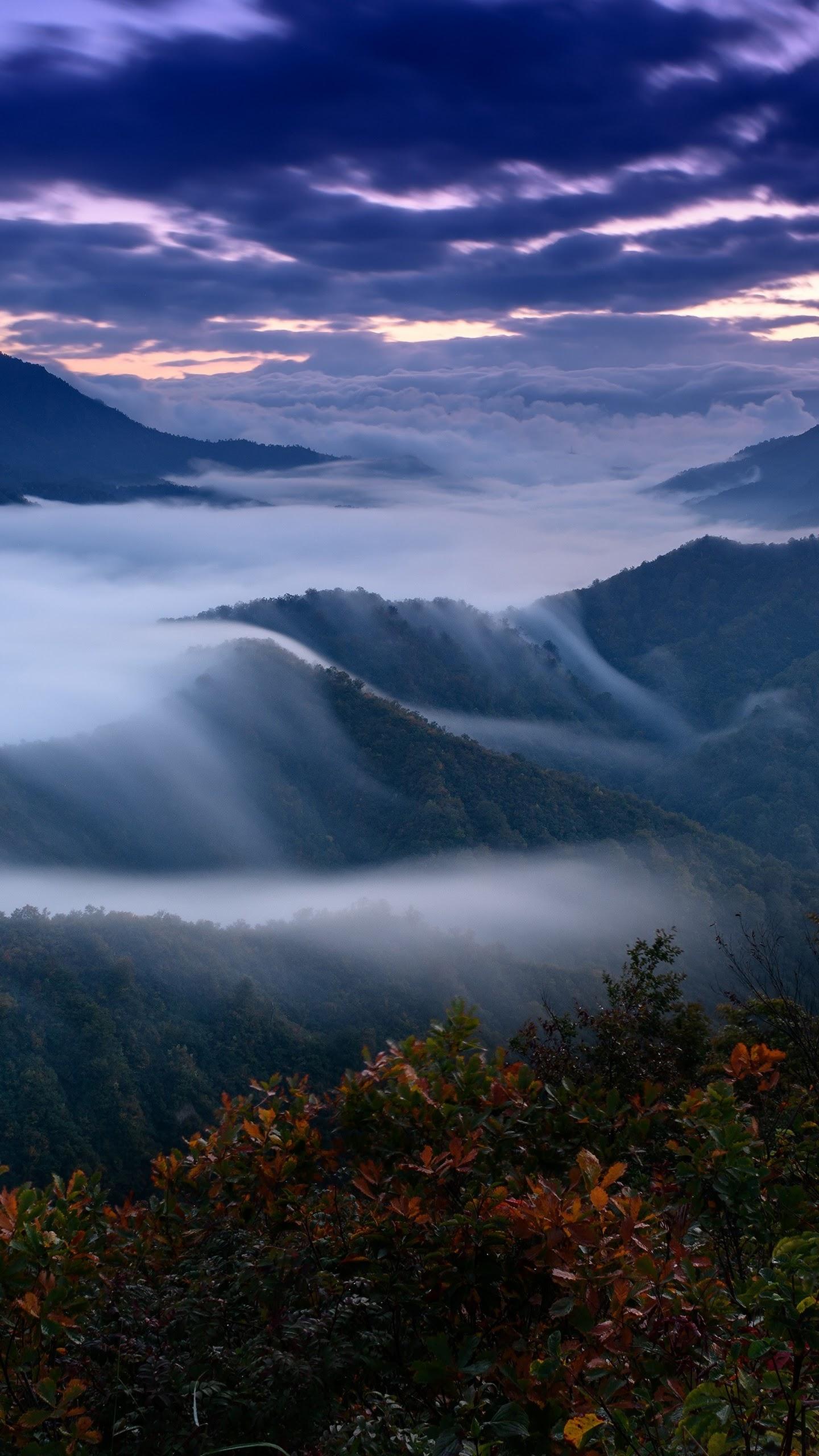 Mountain Fog Scenery Landscape Nature 4k Wallpaper 180