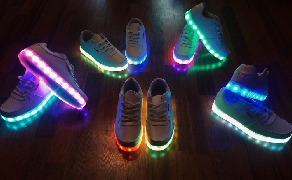 Image result for Neon wear LED shoes