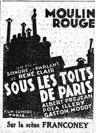 musique de film 1928 1945 sous les toits de paris 1930. Black Bedroom Furniture Sets. Home Design Ideas