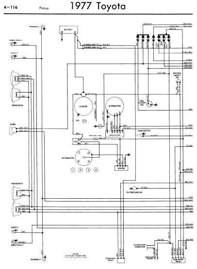 repairmanuals: Toyota Pickup 1977 Wiring Diagrams