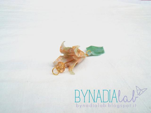 ciondolo fiore di zucca bynadialab