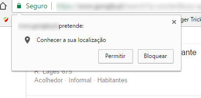 Como impedir que os sites solicitem a localização no Chrome