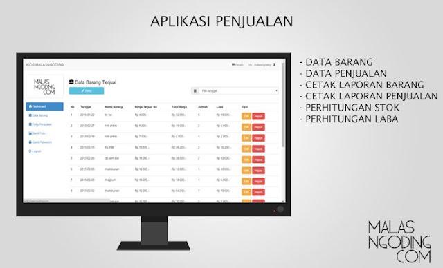 Source code Aplikasi Penjualan Sederhana Gratis dengan php