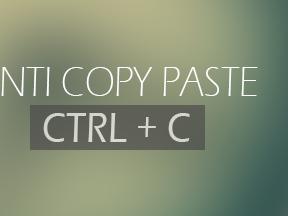 Cara Memasang Script Anti Copas Full Permanen