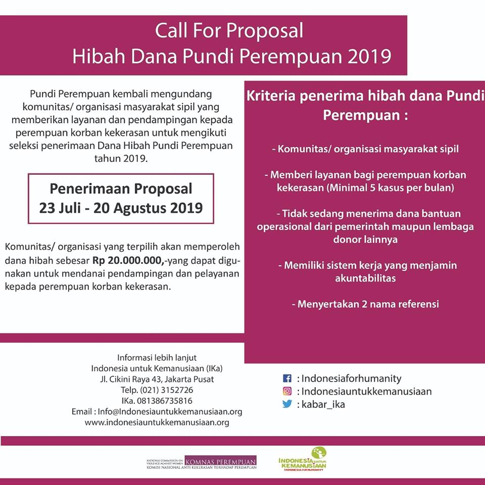 Call for Proposal Pundi Perempuan 2019 - konde