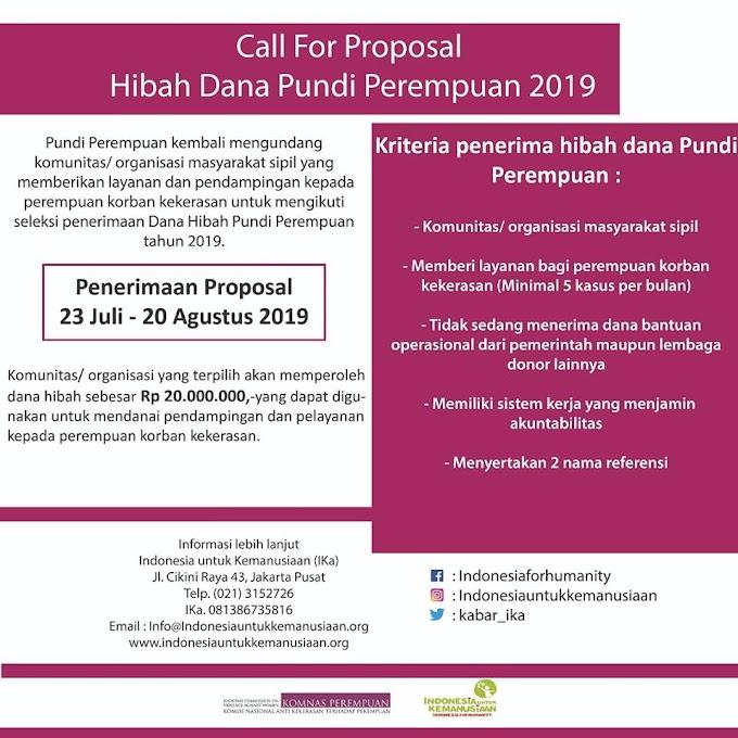 Call for Proposal Pundi Perempuan 2019