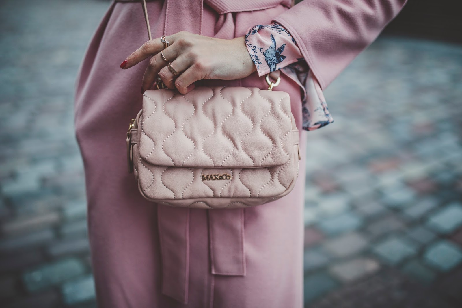 pink coat max co bag