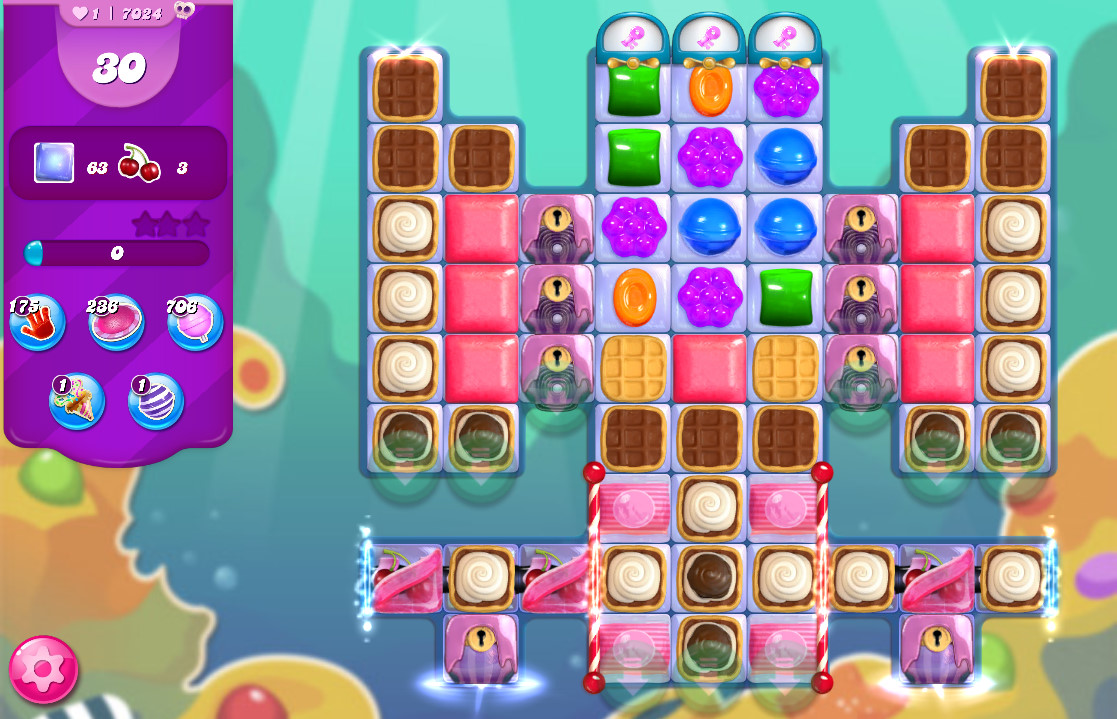 Candy Crush Saga level 7024
