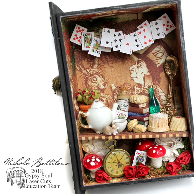 Mad Hatters Secrets Hidden Drawer Book - Nichola Battilana