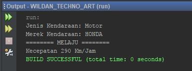 Contoh Penggunaan Inheritance pada Class Motor