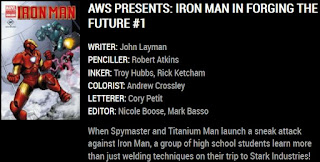 Information card about AWS Presents Iron Man Special #1: Forging The Future