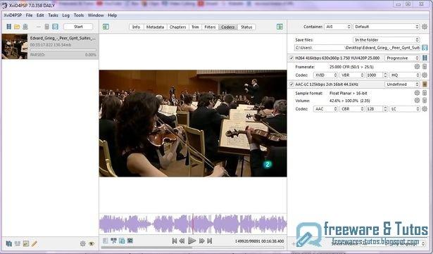 Xvid4PSP : un logiciel de conversion vidéo simple d'emploi