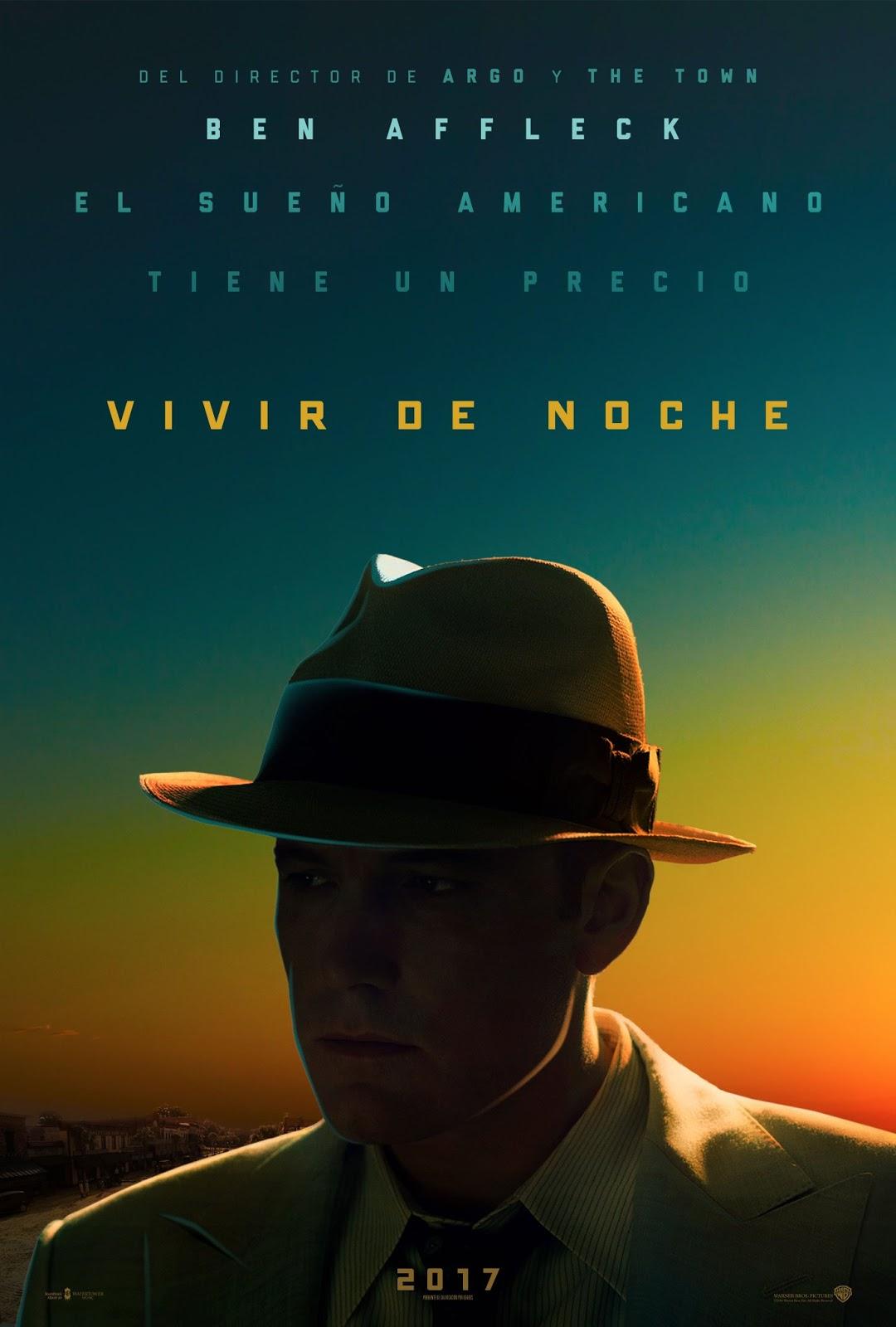 Cartel español película Vivir de Noche