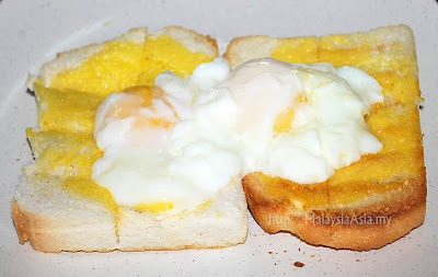 Ipoh Toast Bread with Half Boiled Eggs