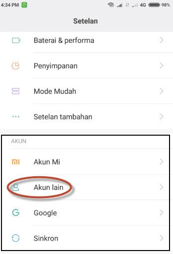 Cara Mudah Menghapus Dan Mengganti Akun Gmail Di Hp Xiaomi Miui 7 8 Bincang Android