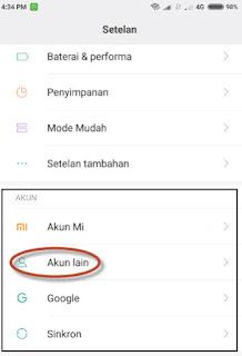 hapus akun google di xiaomi miui 8
