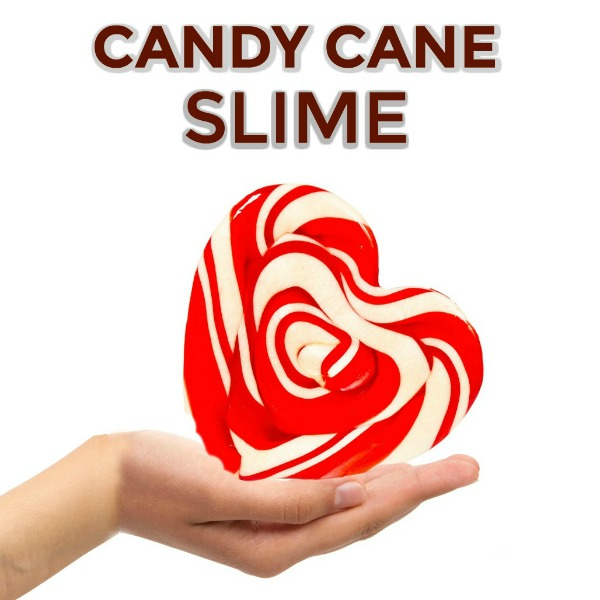 CANDY CANE SLIME:  Easy to follow recipe, and smells just like Christmas!  #kids #slime #slimerecipes #christmasactivities