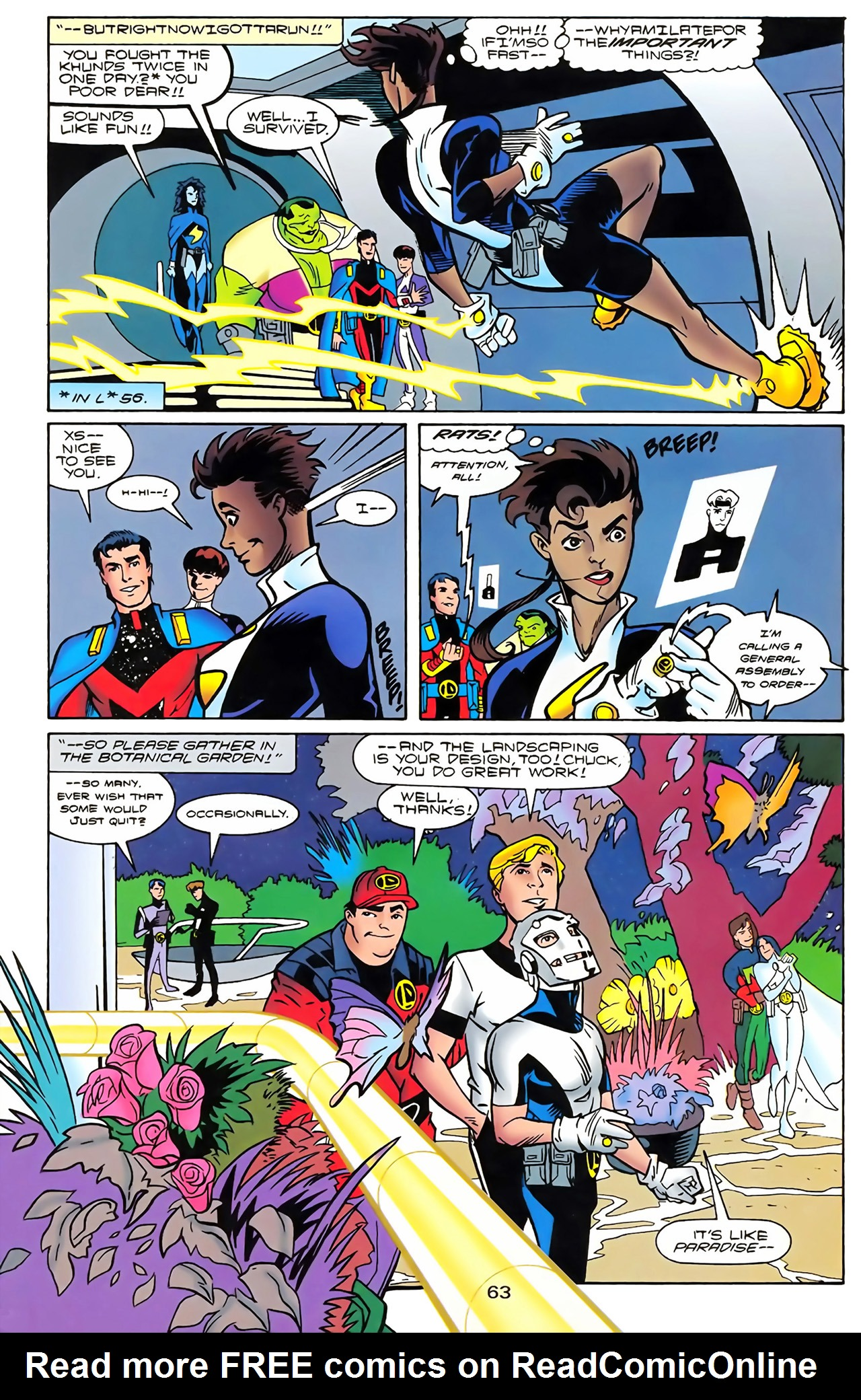 Legion of Super-Heroes (1989) 100 Page 57