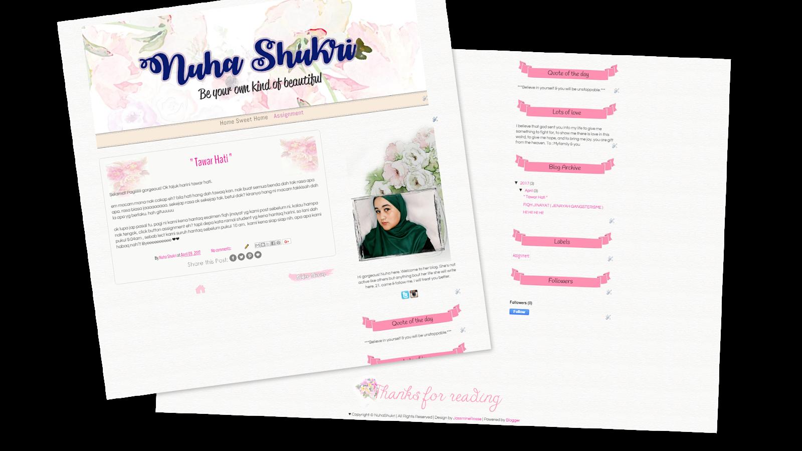 Nuha Syukri Blog