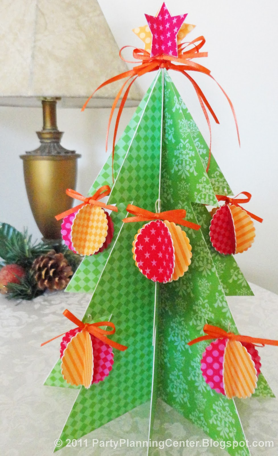 Free Printable Paper Christmas Tree and Ornaments | Party ...