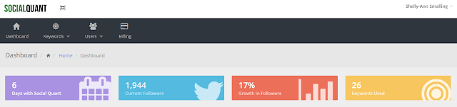 After 6 days with Social Quant my followers grew by 17%.