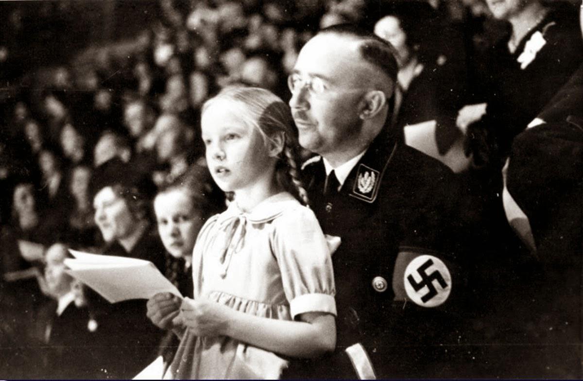 Gundrun with her father, Heinrich Himmler, 1938