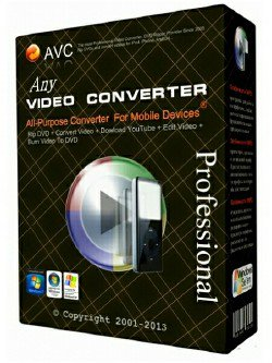 Any Video Converter Professional 6.2.3 poster box cover