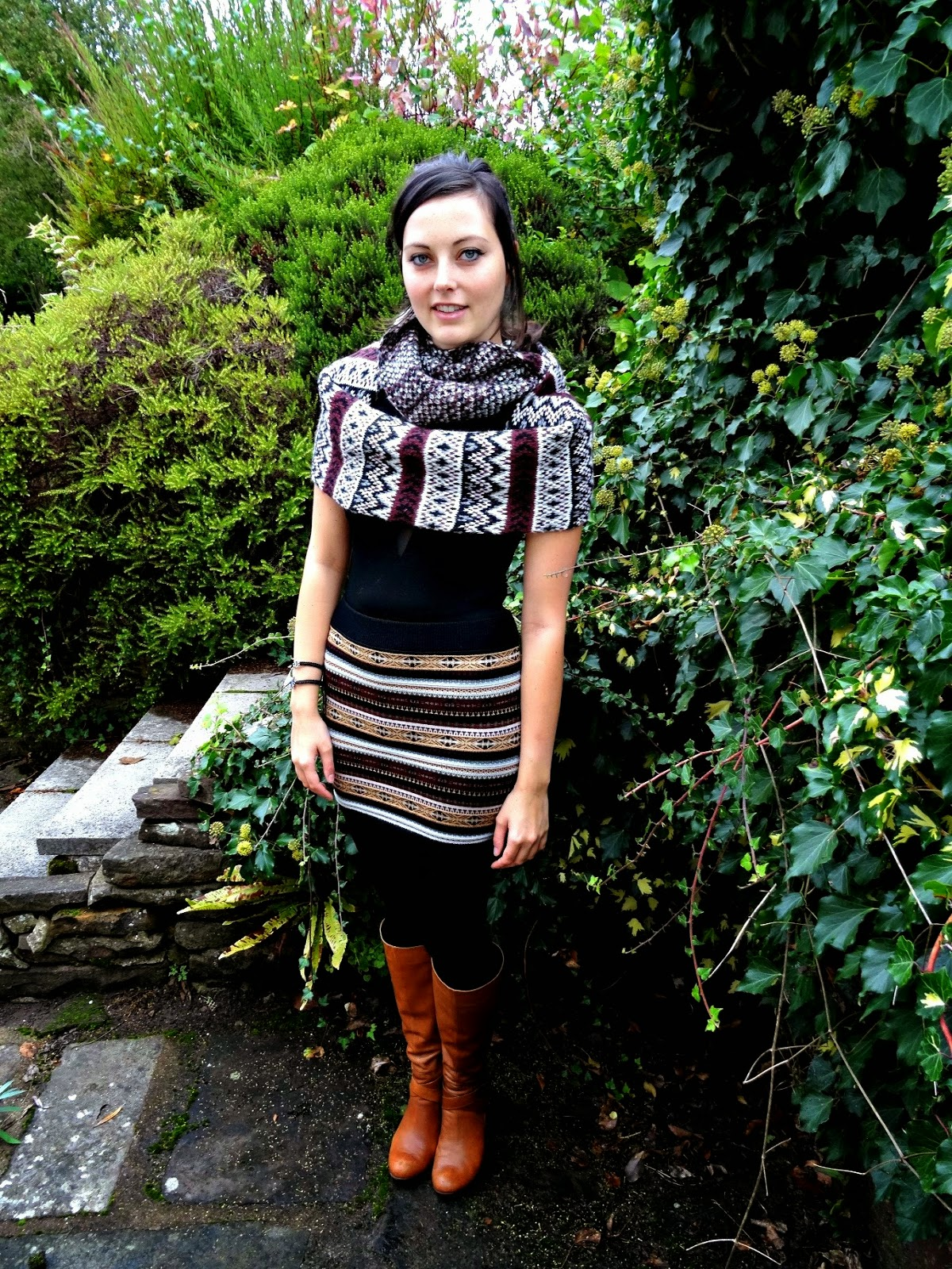 Autumn fashion skirts and scarfs
