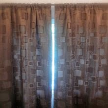 Brown Ripple Fold Curtains