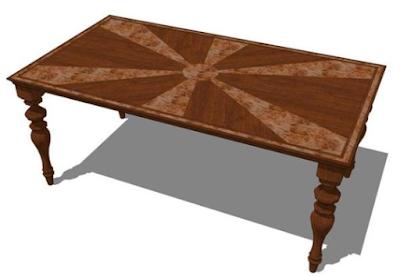 model meja makan inlay sederhana