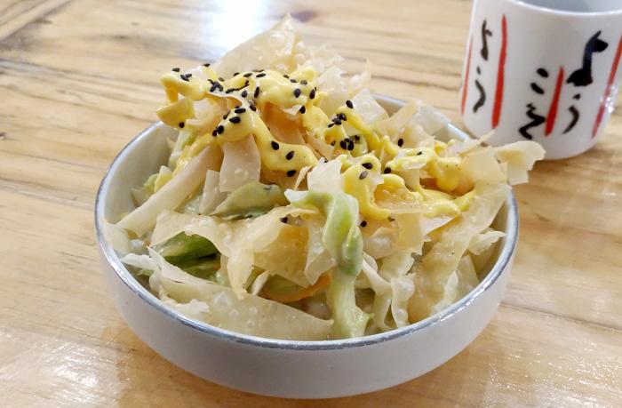 Kaizen Salad at Kaizen Japanese Street Dining