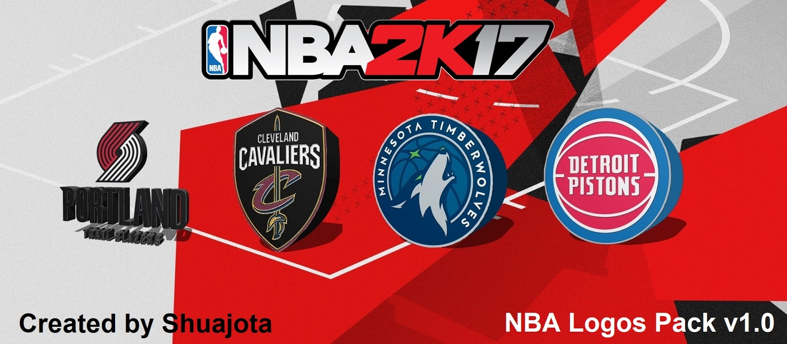 Nba 2k17 2018 3d Logos V10 By Shuajota Shuajota Your Videogame