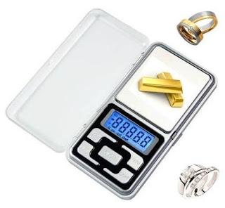 Antes el dinero se pesaba, las joyas tambien deben pesarse, y los metales preciosos en general.