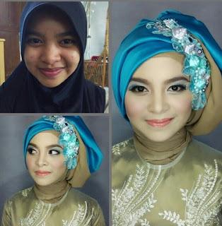 cara memakai hijab acara wisuda