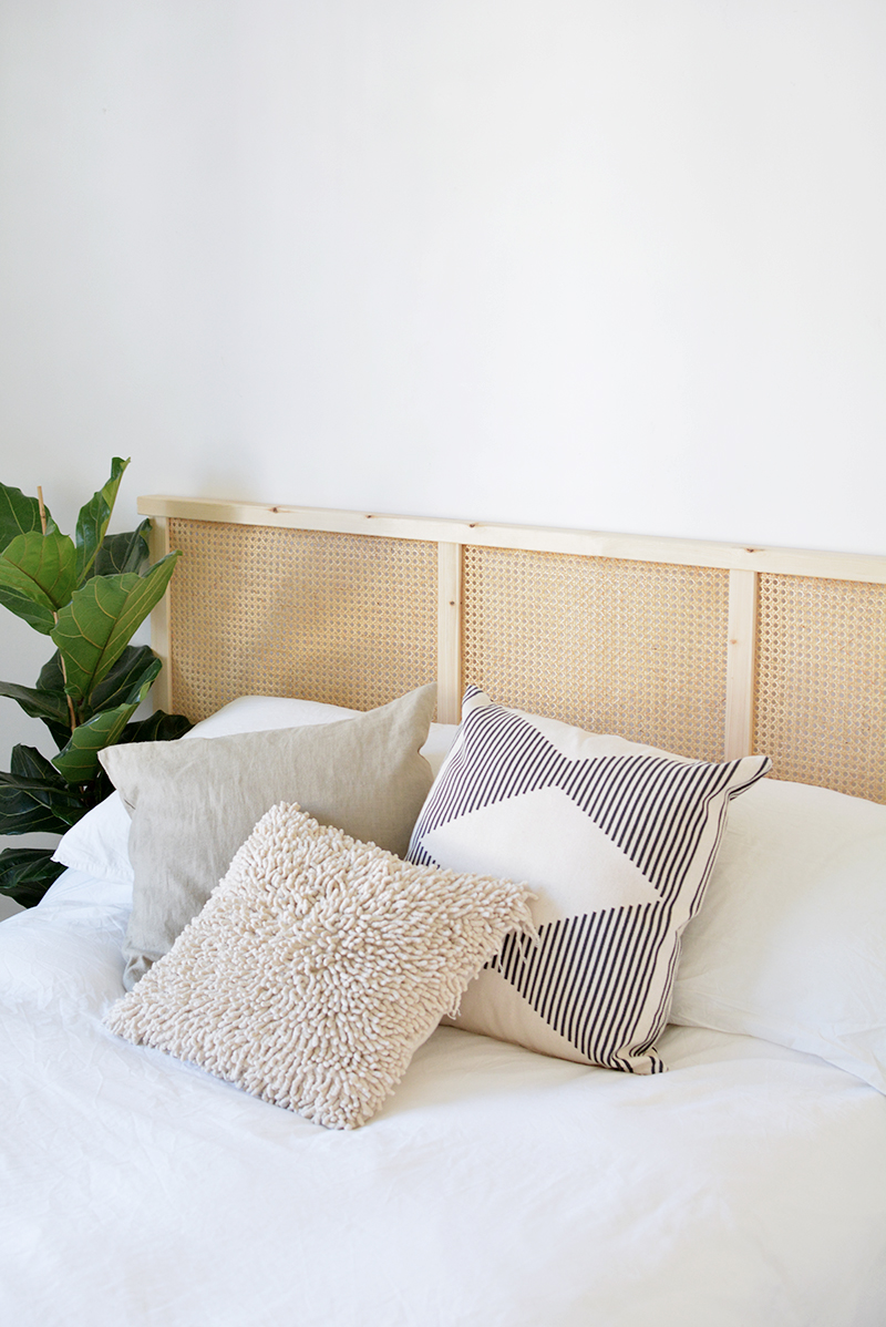 DIY cane headboard ivar IKEA hack