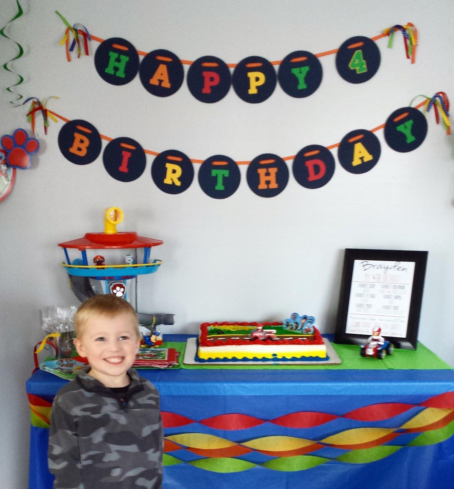 One Happy Mommy Paw Patrol 4th Birthday Party