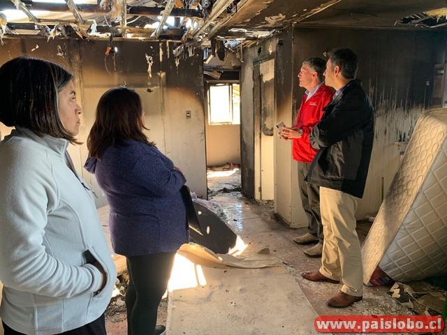 Familia afectada por incendio Osorno