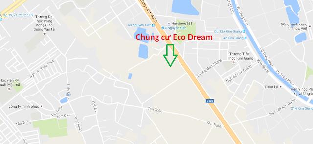 Vị trí dự án chung cư Eco Dream Nguyễn Xiển