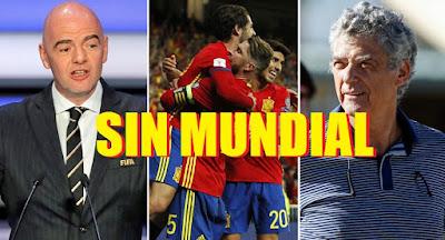 La FIFA amenaza con dejar a España fuera del Mundial
