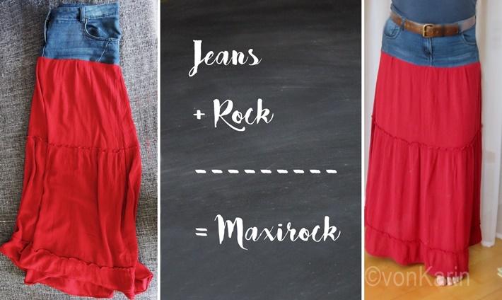 Titelbild Maxirock - Jeans und Stoff, DIY vonKarin