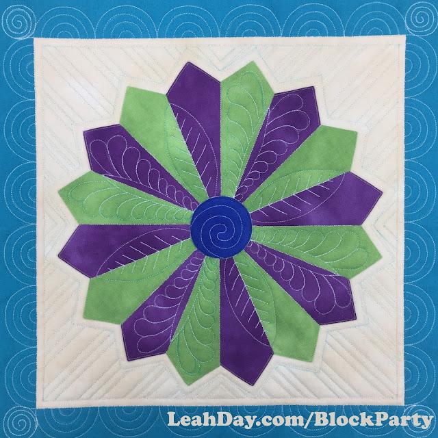 dresden plate quilt block | machine quilting dresden plate
